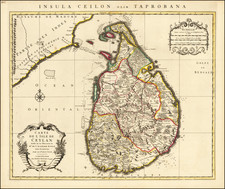 Sri Lanka Map By Cornelis Mortier