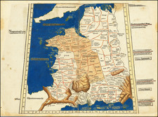 France Map By Claudius Ptolemy / Lienhart Holle