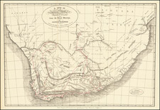 South Africa Map By George Thompson