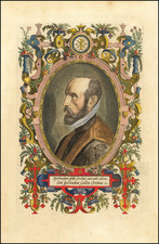 [Ortelius Portrait] Spectandum dedit Ortelius mortalib. orben, Orbi spectandum Galleus Ortelium By Abraham Ortelius