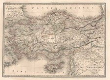 Europe, Turkey, Mediterranean, Balearic Islands, Asia and Turkey & Asia Minor Map By Alexandre Emile Lapie