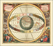 World, Eastern Hemisphere, Curiosities and Celestial Maps Map By Andreas Cellarius