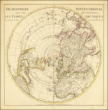 Northern Hemisphere and Polar Maps Map By Johannes Covens  &  Cornelis Mortier  &  Guillaume De L'Isle