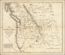 Rocky Mountains, Pacific Northwest, Oregon and Washington Map By Washington Hood