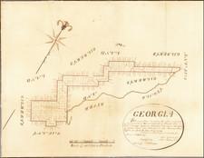 Georgia and South Carolina Map By Daniel Sturges