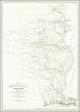 Louisiana, Arkansas, Minnesota, Iowa, Missouri, Nebraska and Oklahoma & Indian Territory Map By Washington Hood / United States GPO