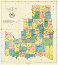 Oklahoma & Indian Territory Map By D.W. Bolich