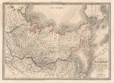 Alaska, Asia, Central Asia & Caucasus and Russia in Asia Map By Alexandre Emile Lapie