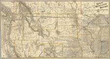 Plains, North Dakota, South Dakota, Rocky Mountains, Montana, Wyoming and Pacific Northwest Map By Knight Leonard & Co.