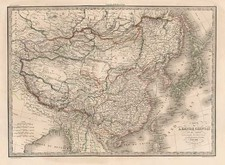 Asia, China, Japan, Korea and Central Asia & Caucasus Map By Alexandre Emile Lapie