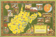 West Virginia Map By Sterling B. Smeltzer
