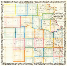 Plains and Kansas Map By C.P. Wiggin