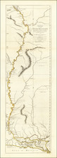 South, Louisiana, Midwest, Plains and Missouri Map By Robert Sayer / Lieutenant John Ross