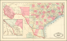 Texas Map By HS Stebbins