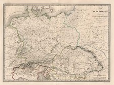 Europe, Europe, Germany, Austria and Poland Map By Alexandre Emile Lapie