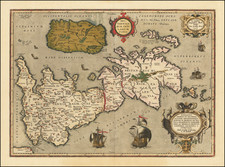 British Isles Map By Abraham Ortelius