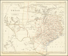 Texas Map By Henry Darwin Rogers  &  Alexander Keith Johnston