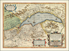Switzerland and France Map By Abraham Ortelius