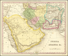 Middle East, Arabian Peninsula and Persia Map By Henry Schenk Tanner