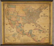 United States Map By Alvin Jewett Johnson  &  Samuel Gaston