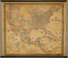 United States Map By Alvin Jewett Johnson  &  Samuel Gaston