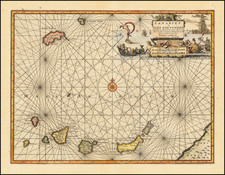 Portugal and African Islands, including Madagascar Map By Pieter van der Aa