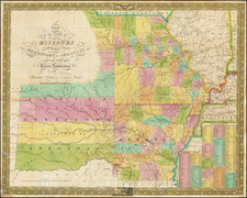 South, Arkansas, Plains, Kansas, Missouri and Oklahoma & Indian Territory Map By Samuel Augustus Mitchell