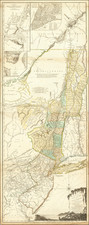 New England, Vermont, New York State, Mid-Atlantic, New Jersey, Canada and American Revolution Map By Sayer & Bennett