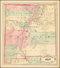 New Mexico Map By HS Stebbins