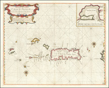 Cuba, Puerto Rico, Virgin Islands and Other Islands Map By Arent Roggeveen / Jacobus Robijn