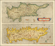 Cyprus and Greece Map By Abraham Ortelius
