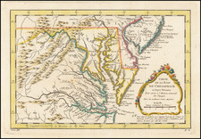 Mid-Atlantic and Southeast Map By Jacques Nicolas Bellin