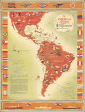 South America, Pictorial Maps and America Map By Kenneth W. Thompson