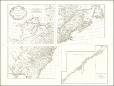 United States, North America, Canada and Eastern Canada Map By Jean-Baptiste Bourguignon d'Anville