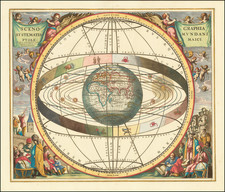 Eastern Hemisphere, Indian Ocean and Celestial Maps Map By Andreas Cellarius / Gerard & Leonard Valk