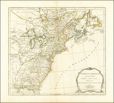 North America from the French of Mr. D'Anville Improved with the English Surveys made Since the Peace . . . June 1775 By Robert Sayer  &  John Bennett
