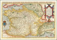 Galliae Regni Potentiss: Nova Descriptio Joanne Ioliveto Auctore… By Abraham Ortelius