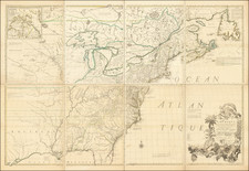 United States, North America and Canada Map By John Mitchell / Georges Louis Le Rouge
