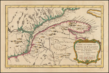Canada and Eastern Canada Map By Jacques Nicolas Bellin