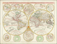 World Map By Vincenzo Maria Coronelli / Jean-Baptiste Nolin