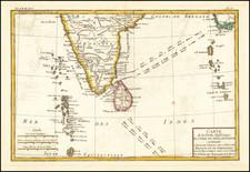 India and Sri Lanka Map By Rigobert Bonne