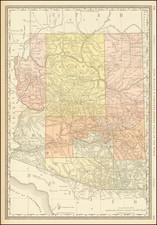 Arizona Map By William Rand  &  Andrew McNally
