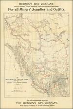 Alaska, Canada and British Columbia Map By Hudson's Bay Company