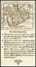 Middle East and Arabian Peninsula Map By Johann Ulrich Muller