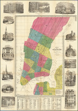 New York City Map By David Hugh Burr