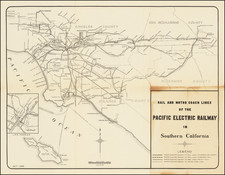 California and Los Angeles Map By Pacific Electric Railway