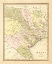 Texas Map By Thomas Gamaliel Bradford