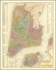 New York City Map By Henry Schenk Tanner
