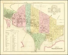 Washington, D.C. Map By Henry Schenk Tanner