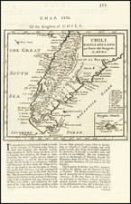 Argentina and Chile Map By Herman Moll